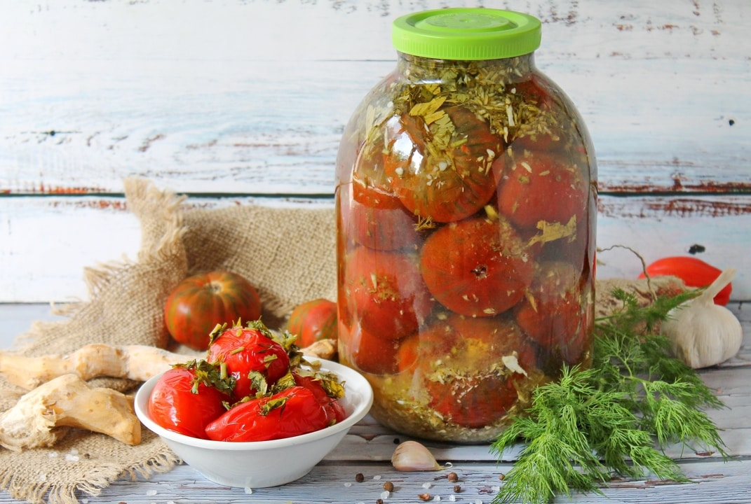 Pomidorų konservavimas