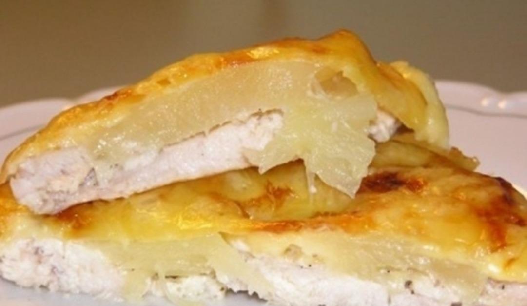 Vištienos filė kepta su bulvėmis orkaitėje