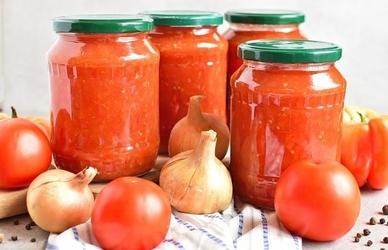 Pomidorų padažas žiemai